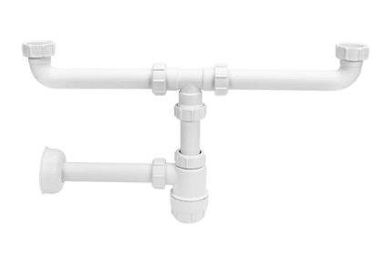 Сифон для умывальника без слива двойной (5/4х32) HC2 + PIPE