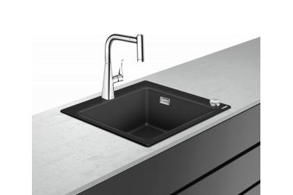 Кухонная мойка C51-F450-01 Сombi 560x510 со смесителем Select Chrome (43212000)