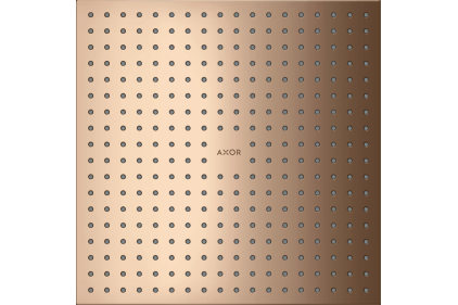 Верхний душ Axor 300х300 2jet монтаж с потолка Polished Red Gold (35321300)