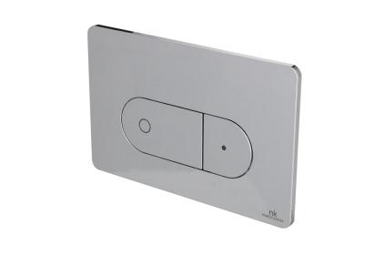 Smart-line Кнопка змиву OVAL подвійна хромована (100104502)