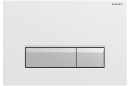 Кнопка змиву Sigma 40 з системою видалення запаху, пластикова біла /матовий алюміній (115.600.KQ.1)