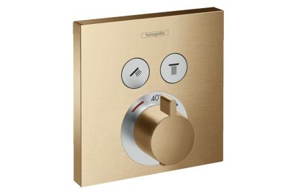 Термостат скрытого монтажа ShowerSelect на 2 клавиши Brushed Bronze (15763140)