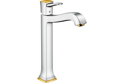 Смеситель Metropol Classic 260 для умывальника с донным клапаном, цвет хром-золото (31303090)