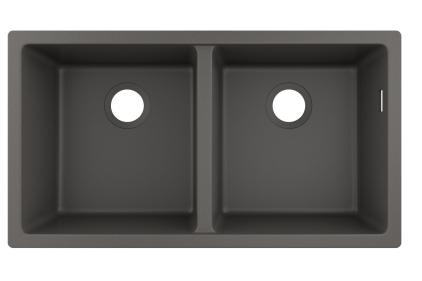 Кухонна мийка S510-U770  під стільницю 820х450 дві чаші 370/370 Stonegrey (43434290)