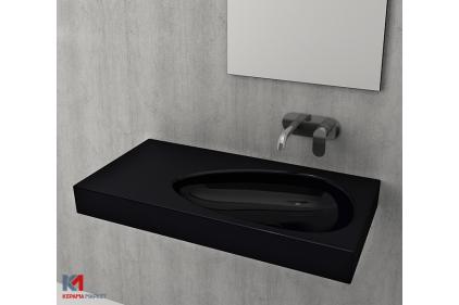 Умывальник ETNA 90х45 глянцевый черный (1115-005-0125)