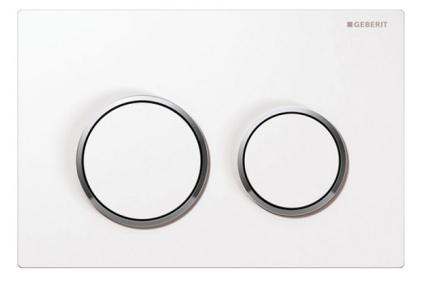 Кнопка змиву Omega 20, пластикова біла/хромована глянцева/біла (115.085.KJ.1)
