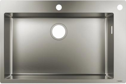Кухонна мийка S712-F660  на стільницю 760х500 сталева (43308800) Stainless Steel