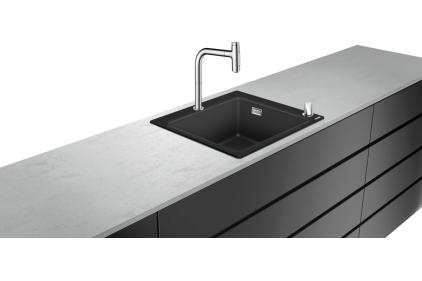 Кухонна мийка C51-F450-06 Сombi 560x510 Select зі змішувачем Chrome (43217000)