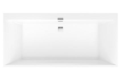 SQUARO EDGE 12 Duo Ванная 1700 * 750 с ножками и сифоном Quaryl (UBQ170SQE2DV-01)
