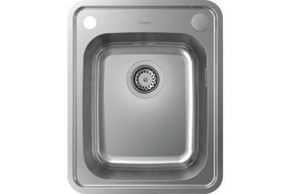 Кухонна мийка S412-F340 на стільницю 420х520 з сифоном automatic (43334800) Stainless Steel