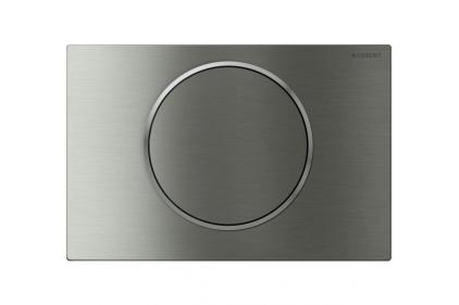 """Кнопка змиву Sigma 10 із систимою змиву """"стоп"""": нержавіюча сталь матова/полірована/матова, антивандальне кріплення (115.787.SN.5)"""