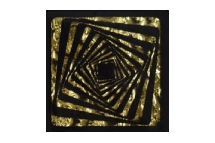 Тако стекло Квадрат золото рифленое 773 66х66 / 8