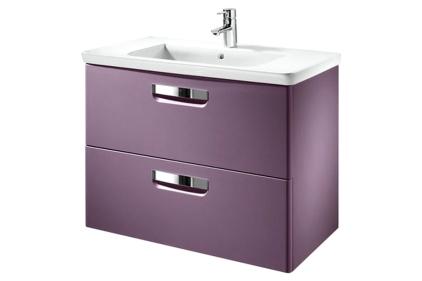 Тумба Gap + умывальник 80 см фиолетовая (упаковка A855712577)