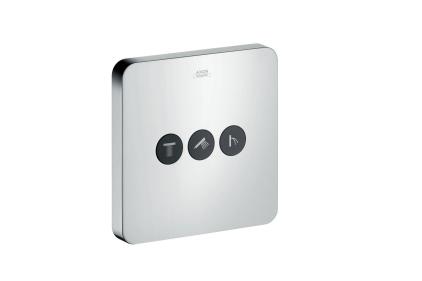 Запорно-переключающий вентиль ShowerSelect Softcube на 3 функции Chrome (36773000)