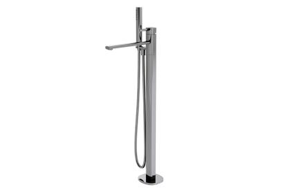 NK CONCEPT Змішувач підлоговий хромований для ванни/душу з шлангом 150см + ручний душ + картридж Ø40мм (100149209)