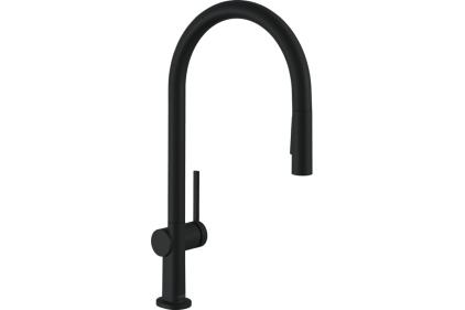 Змішувач Talis 210 2jet кухонний з витяжним виливом Sbox (72801670) Black Matt