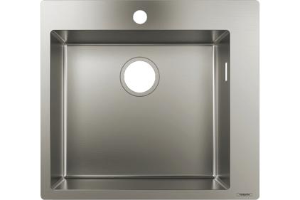 Кухонна мийка S711-F450 на стільницю 1x35Ø 550х500 Stainless Steel (43301800)