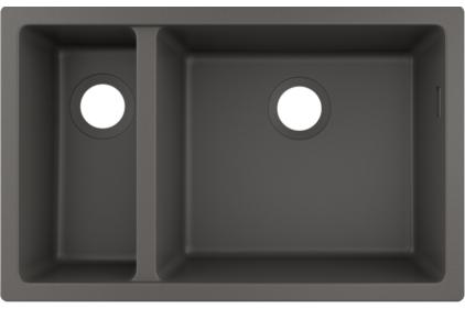 Кухонна мийка S510-U635  під стільницю 710х450 дві чаші 180/450 Stonegrey (43433290)