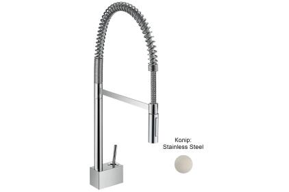 Смеситель Axor Starck 240 Semi-Pro для кухни (10820800) Stainless Steel
