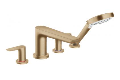 Смеситель Talis E врезной на край ванны на 4 отверстия Brushed Bronze (71748140)