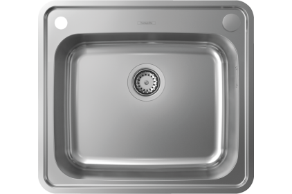 Кухонна мийка S412-F500 на стільницю 580х520 з сифоном automatic (43336800) Stainless Steel