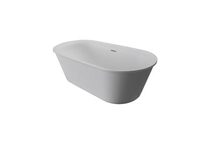 ARQUITECT Ванна акрилова 160х72 / 54.5H / 205 літрів / з переливом / злив по центру / колір білий матовий (100206901)