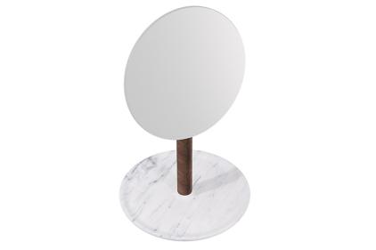 G170 Зеркало настольное BALDA HAND MIRROR NEVE DI CARRARA AMERICANO