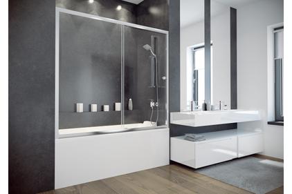 Шторка для ванни Duo Slide II 170 1700x1500 прозора