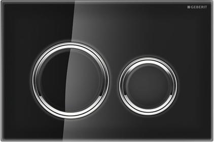 Кнопка смыва Sigma 21 черное стекло / хромированная глянцевая (115.884.SJ.1)