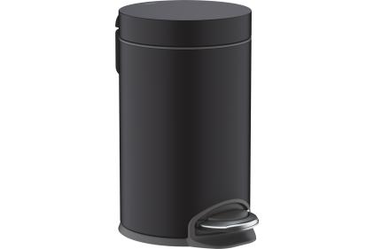 AddStoris Відро для сміття 3L Matt Black (41775670)