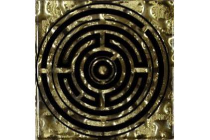 Тако стекло Лабиринт: золото рифленое 775 66х66 / 8