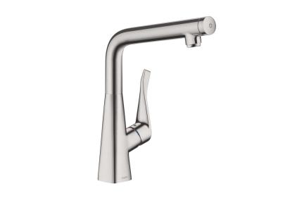 Смеситель Metris Select 320 кухонный/под сталь (14883800)