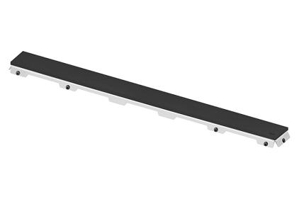 Верхняя часть стеклянная для канала 900 мм черная (600992)