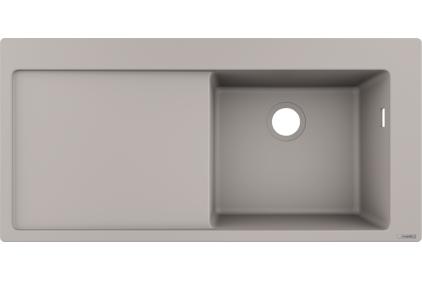 Кухонна мийка S514-F450 1050х415 полиця з ліва Concretegrey (43314380)