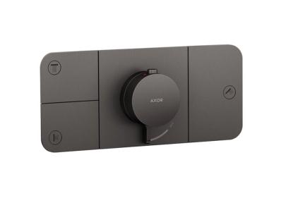 Термостат для трьох споживачів Axor One Brushed Black Chrome 45713340