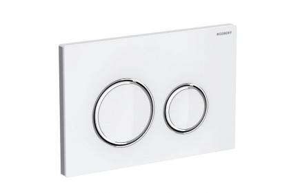 Кнопка смыва Sigma 21 белое стекло / хромированная глянцевая (115.884.SI.1)