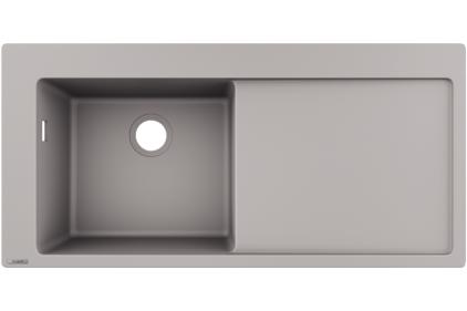 Кухонна мийка S5110-F450 1050х510 полиця праворуч Concretegrey (43330380)