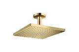 Верхний душ Raindance Select E 300 1jet Air с держателем к потолку Polished Gold Optic (26250990)