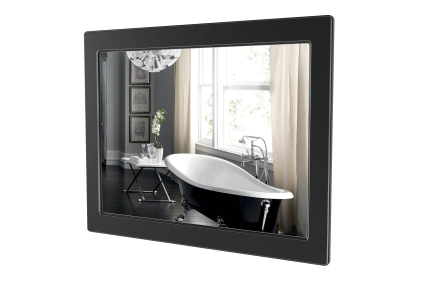 Дзеркало БЕАТРІЧЕ 100 (чорний колір) патина хромована