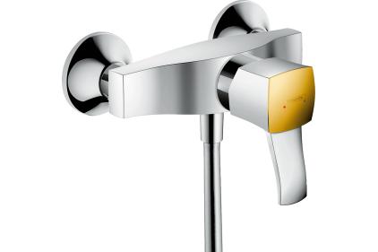 Смеситель Metropol Classic для душа Chrome / Gold Optic (31360090)