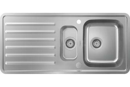 Кухонна мийка S4113-F540 на стільницю 1075х505 з сифоном automatic (43339800) Stainless Steel