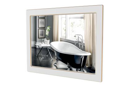 Зеркало Беатриче 80 (белый цвет) патина золото