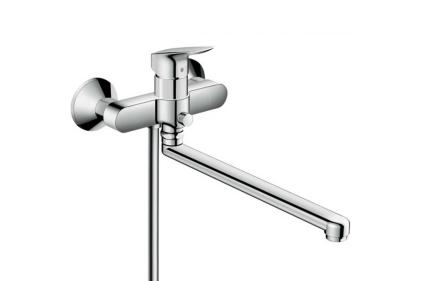 Змішувач Logis для ванни з довгим виливом хромований (71402000)