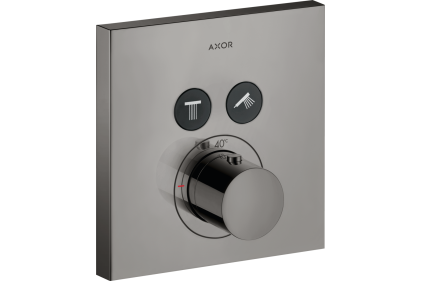Термостат для двох споживачів Axor ShowerSelect square прихованого монтажу Poliched Black Chrome 36715330