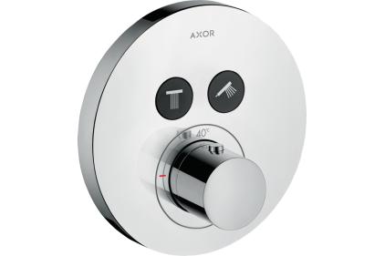 Термостат для двух потребителей Axor ShowerSelect S скрытого монтажа Chrome 36723000