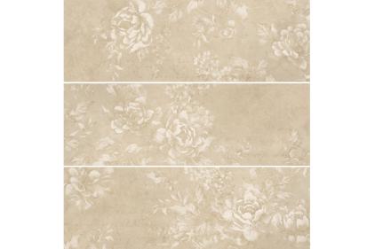 DEC.BREEZE SAND 25х75 (плитка настінна, декор: квіти) B-72