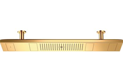 Верхний душ Axor ShowerHeaven 1200х300 4jet с подсветкой 3500 K, Polished Gold Optic (10629990)