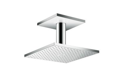 Верхний душ Axor 250х250 2jet P с держателем к потолку (35312000)
