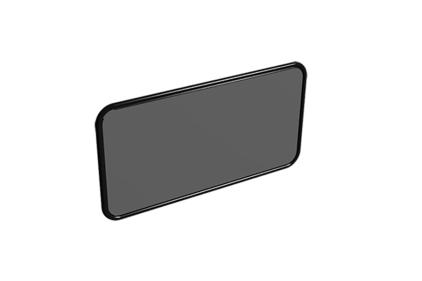 G173 Зеркало Vintage Espejo S 99x52 см черное