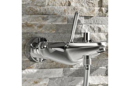Змішувач EURODISC JOYSTICK для ванни DN 15  настінний хромований (23431000)